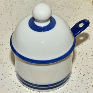 Dansk ceramic porcelain jam jelly jar condiment